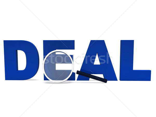 Deal Word Shows Deals Dealing Bargain Or Bargains Stock photo © stuartmiles