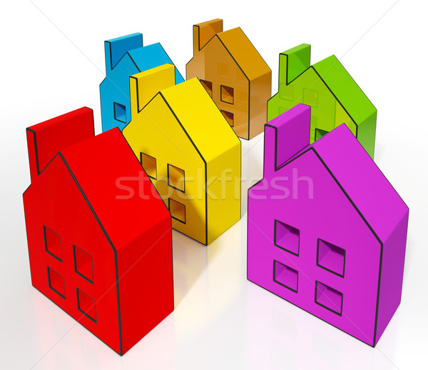 House Symbols Meaning Houses For Sale Stock photo © stuartmiles