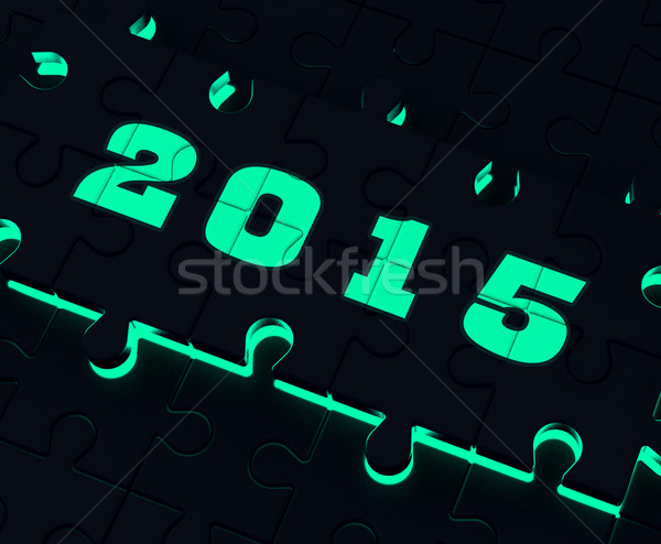 Two Thousand And Fifteen On Puzzle Shows Year 2015 Resolution Stock photo © stuartmiles