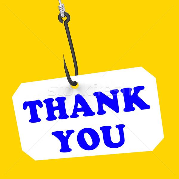 Dank u haak dankbaarheid dankbaarheid betekenis waardering Stockfoto © stuartmiles