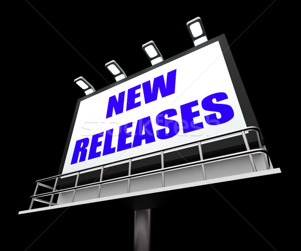 New Releases Sign Indicates Now Available or Current Product Stock photo © stuartmiles