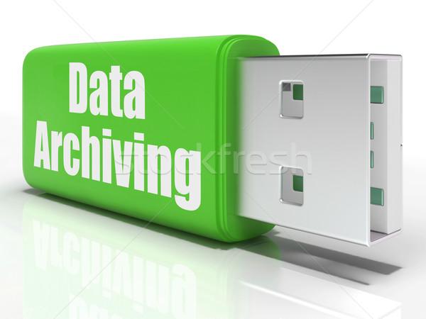 Gegevens pen drive gegevensopslag organisatie tonen Stockfoto © stuartmiles