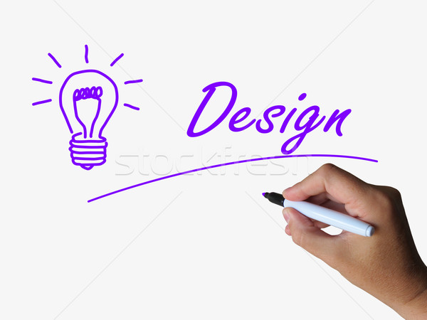 Design and Lightbulb Mean Creative Concept and Designing Stock photo © stuartmiles