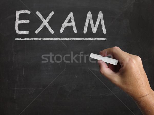 Sınav tahta değerlendirme test Stok fotoğraf © stuartmiles