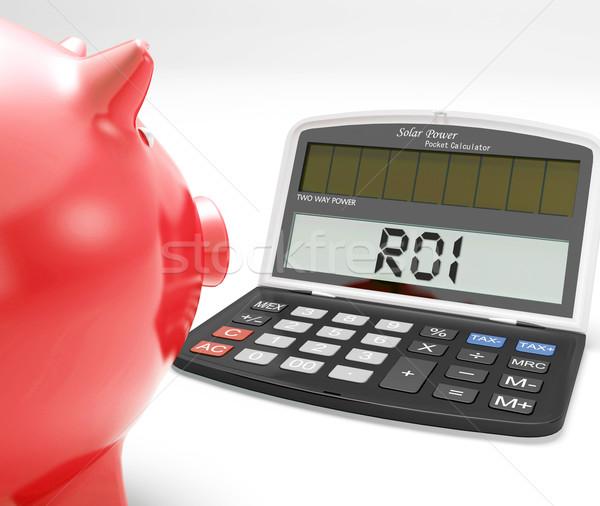 Roi számológép beruházás visszatérés profitabilitás mutat Stock fotó © stuartmiles