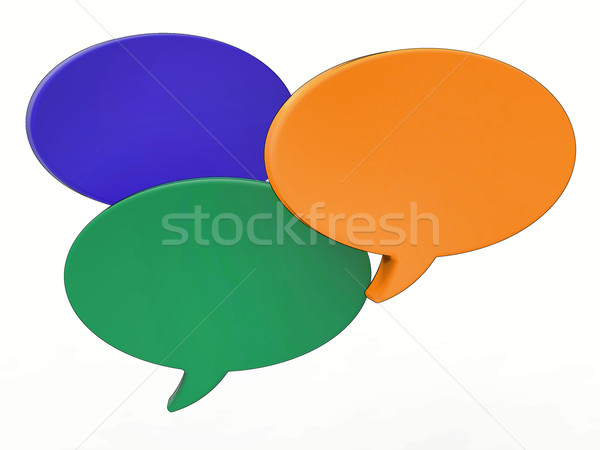 Blank Speech Balloon Shows Copy space For Thought Chat Or Idea Stock photo © stuartmiles