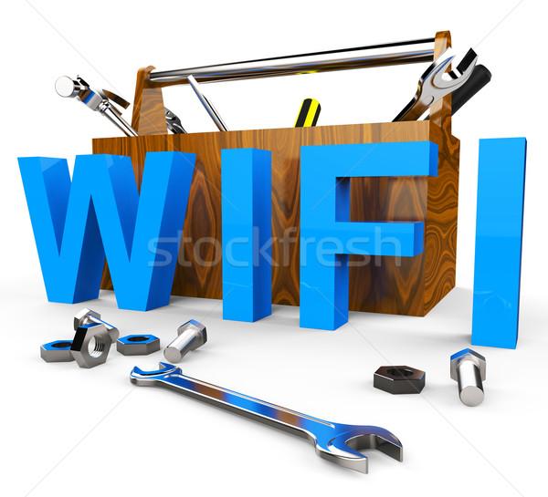 Сток-фото: Wi-fi · инструменты · всемирная · паутина · доступ · сайт · компьютер