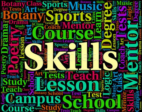 Habilidades palavra palavras texto capacidade Foto stock © stuartmiles