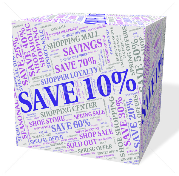 Ten Percent Off Means Offers Offer And Retail Stock photo © stuartmiles