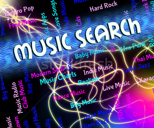 Music Search Means Melodies Exploration And Acoustic Stock photo © stuartmiles