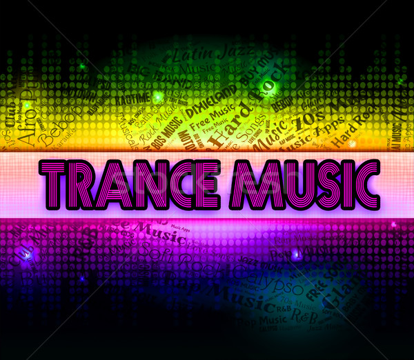 Trance Music Shows Sound Tracks And Electronic Stock photo © stuartmiles