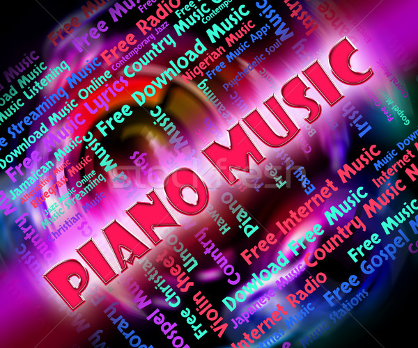 Piano Music Means Sound Track And Keyboard Stock photo © stuartmiles