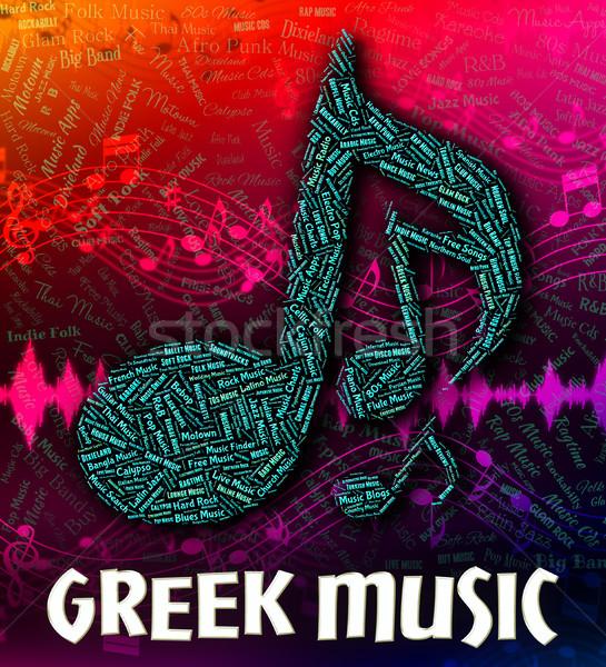 Grego música soar Áudio significado seguir Foto stock © stuartmiles