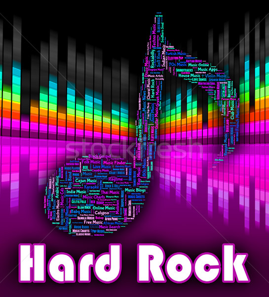 Hard Rock Music Represents Sound Tracks And Harmonies Stock photo © stuartmiles