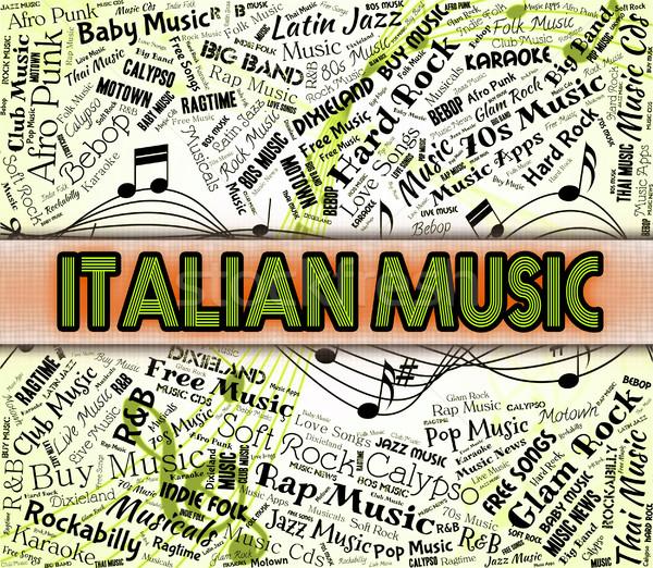Italian Music Indicates Sound Tracks And Acoustic Stock photo © stuartmiles
