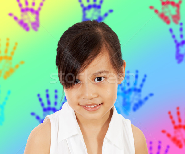 A Shy Young Girl In Her Playroom Stock photo © stuartmiles