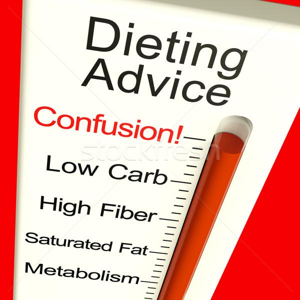 Dieta conselho confusão monitor dieta informação Foto stock © stuartmiles