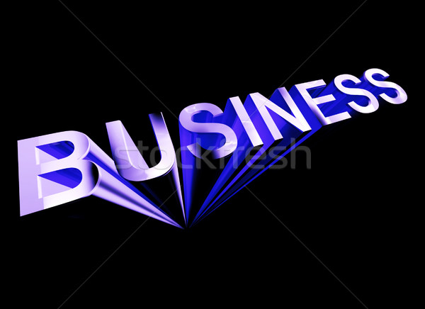 бизнеса текста синий 3D символ торговли Сток-фото © stuartmiles