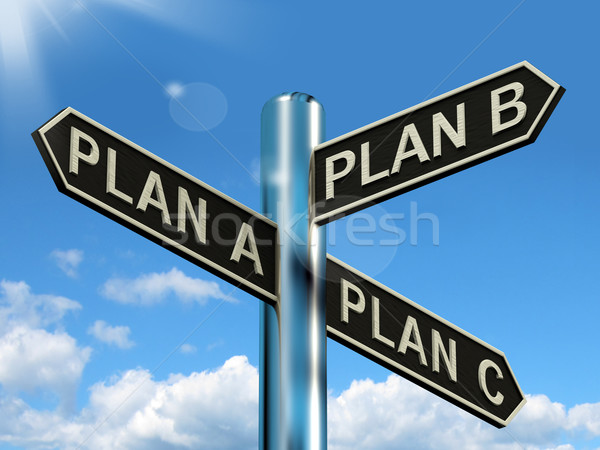 Plan A B or C Choice Showing Strategy Change Or Dilemma Stock photo © stuartmiles