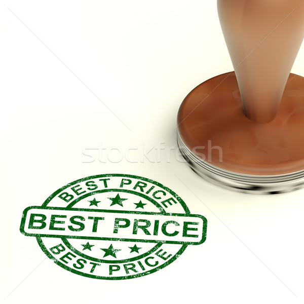 Stock photo: Best Price Stamp Showing Sale And Reductions