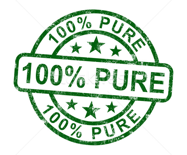 100% Pure Stamp Shows Natural Genuine Product Stock photo © stuartmiles