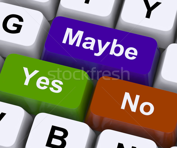 Ja geen sleutels beslissingen onzekerheid keuze Stockfoto © stuartmiles
