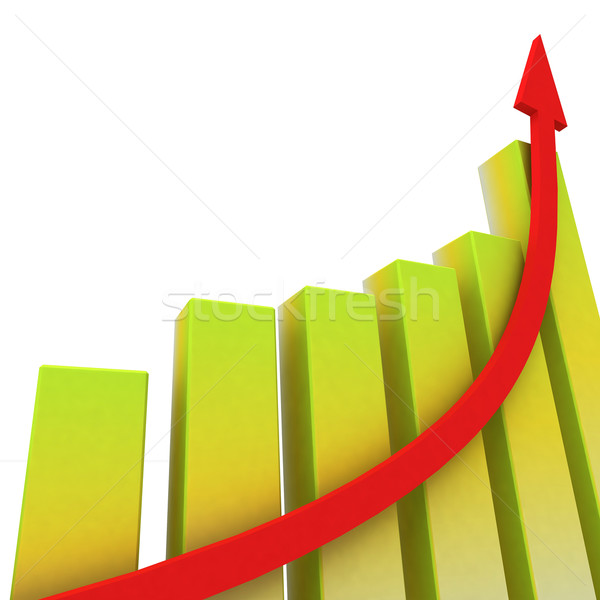 Yellow Bar Chart Shows Increased Profit Stock photo © stuartmiles