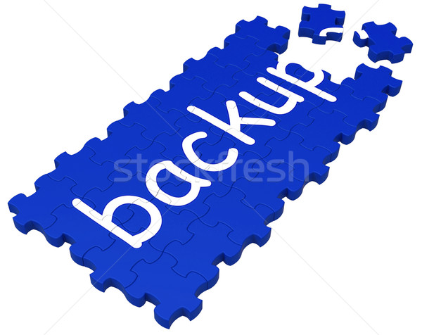 Backup Puzzle Showing Safe Files Stock photo © stuartmiles