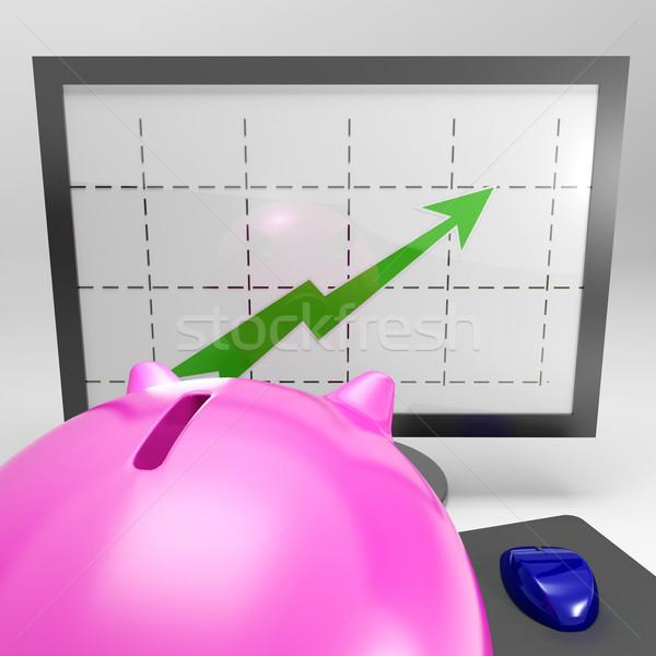 Escalada cerdo crecimiento inversión ganancias Foto stock © stuartmiles