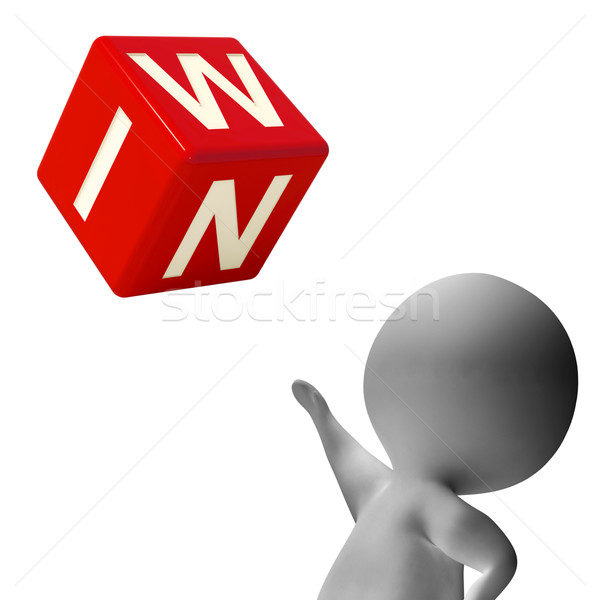 Win Dice Shows Success Winner And 1st Stock photo © stuartmiles