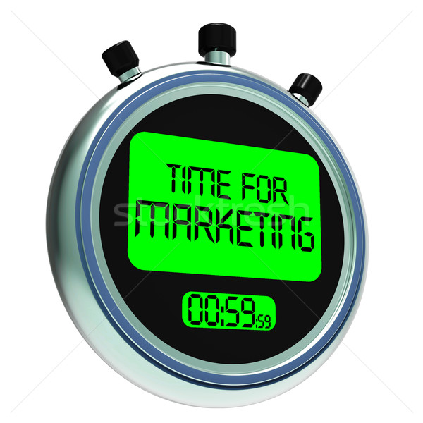 Time For Marketing Message Means Advertising And Sales Stock photo © stuartmiles