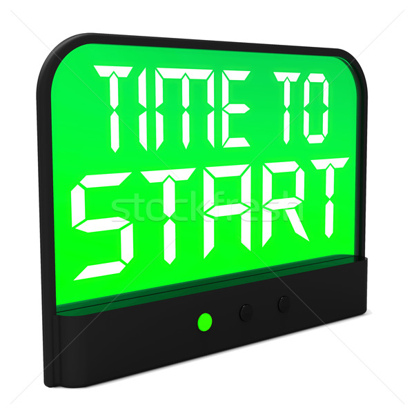 Time To Start Message Shows Beginning Or Activating Stock photo © stuartmiles