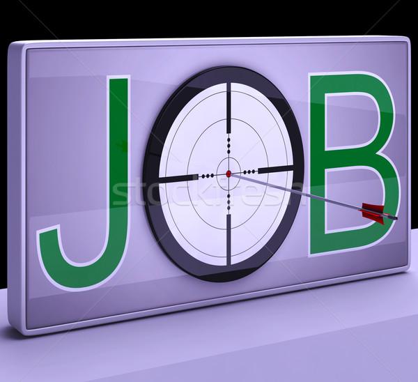 ストックフォト: 仕事 · ターゲット · 雇用 · 職業 · 職業