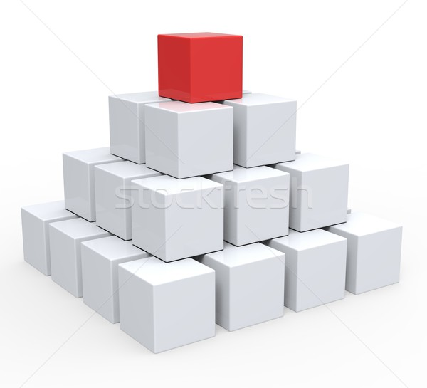 Top Of Pyramid Shows Hierarchy Or Leader Stock photo © stuartmiles