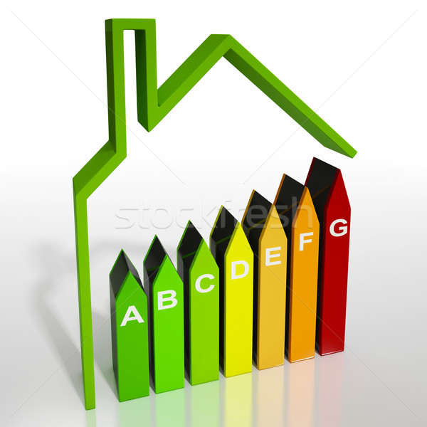 Energy Efficiency Rating Diagram Showing Green House Stock photo © stuartmiles