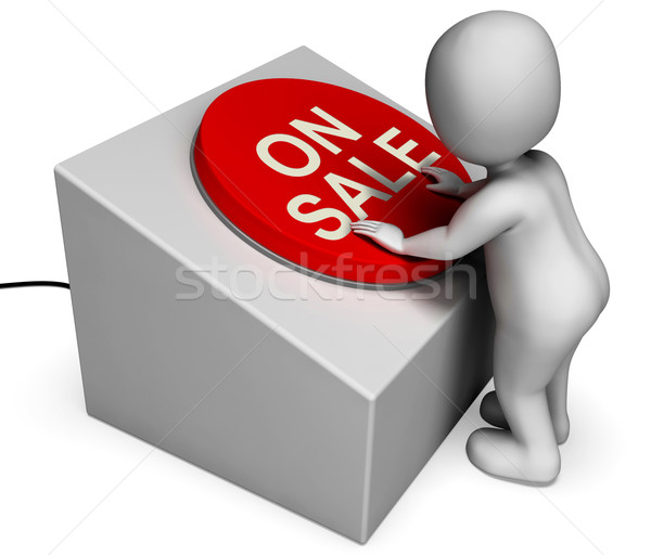On Sale Button Shows Discounts And Special Offer Stock photo © stuartmiles