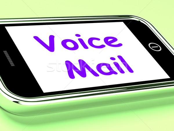 Voce mail telefono parlare messaggio Foto d'archivio © stuartmiles
