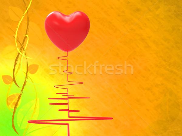 Serca czerwony puls ciśnienie test Zdjęcia stock © stuartmiles