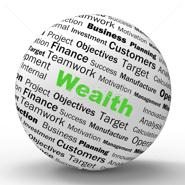 Stockfoto: Rijkdom · bol · definitie · boekhouding · schat · tonen