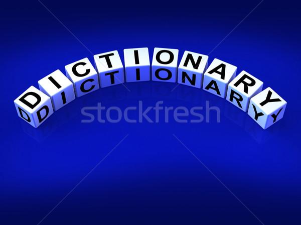 Dizionario dadi parole riferimento significato Foto d'archivio © stuartmiles