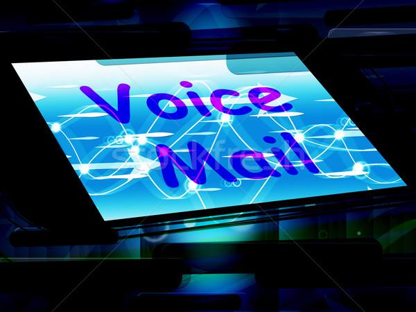 Voz e-mail tela falar mensagem Foto stock © stuartmiles