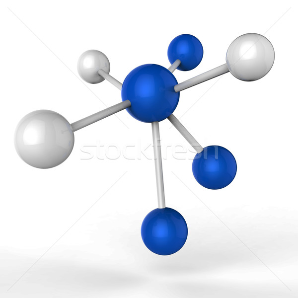 Atom Molecule Represents Scientific Chemistry And Experiments Stock photo © stuartmiles