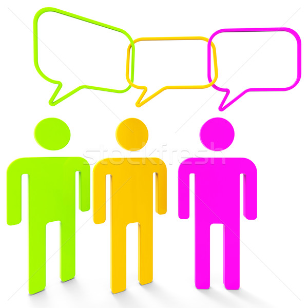 People Speaking Indicates Point Of View And Assumption Stock photo © stuartmiles
