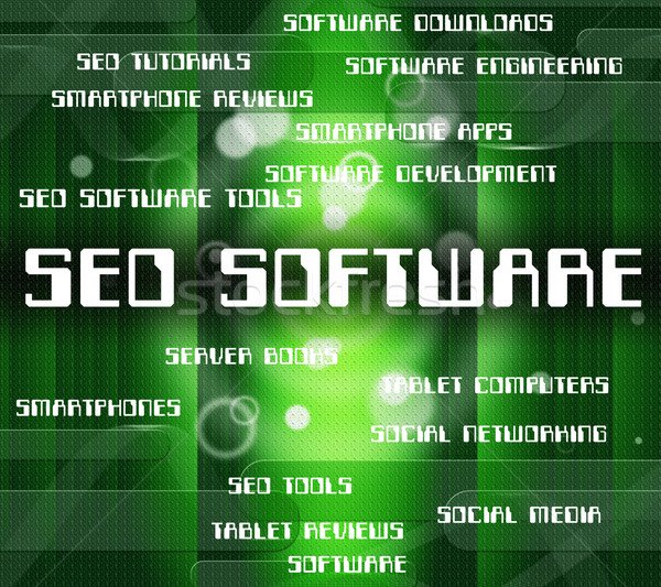 Seo Software Means Freeware Online And Program Stock photo © stuartmiles