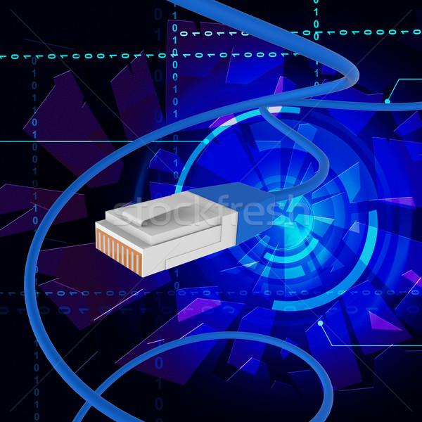 Сток-фото: интернет · связи · всемирная · паутина · шнура · сайт