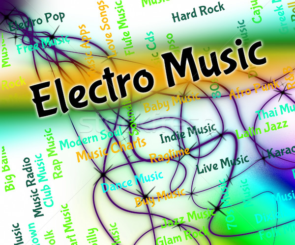Electro Music Represents Sound Tracks And Funk Stock photo © stuartmiles
