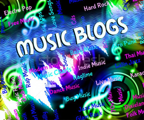 Music Blogs Represents Sound Track And Audio Stock photo © stuartmiles