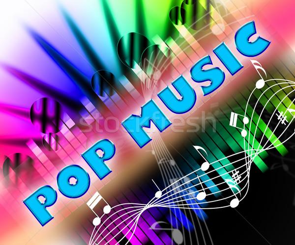 Pop música sonido acústico de audio tema Foto stock © stuartmiles