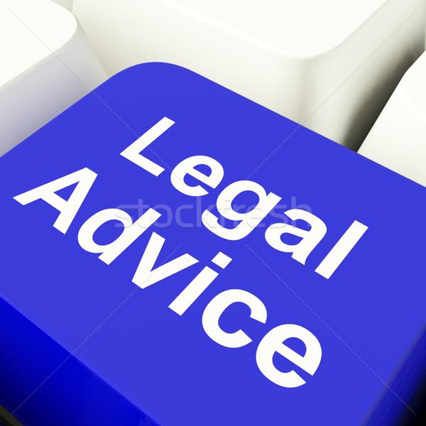 Juridiques conseil ordinateur clé bleu Photo stock © stuartmiles