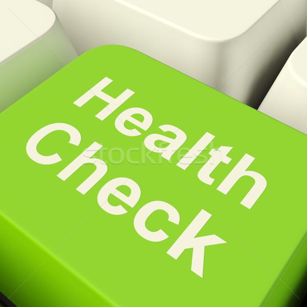 Photo stock: Santé · vérifier · ordinateur · clé · vert
